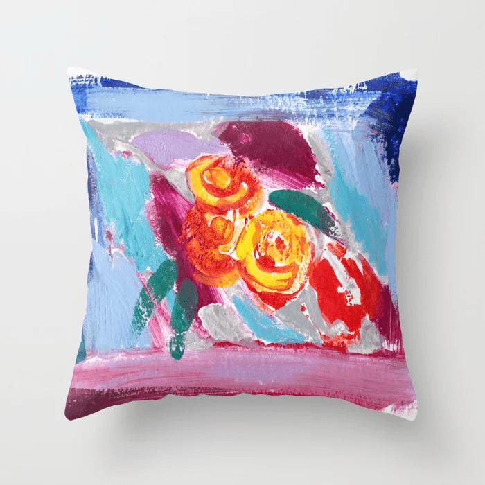 Julie Ellis Artist Throw Pillow