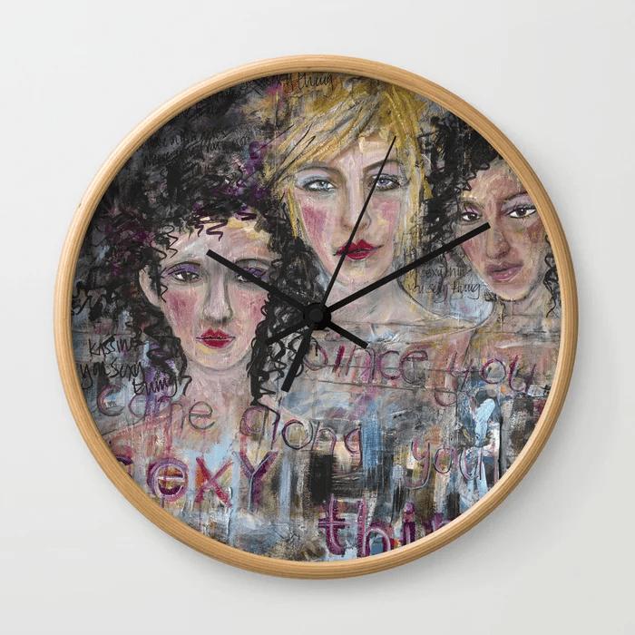 Julie Ellis Artist Wall Clock